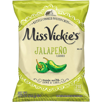 Miss Vickie's, Hand Picked Jalapeno Kettle Cooked Potato Chips, 1.375 oz. Bag (1 Count)