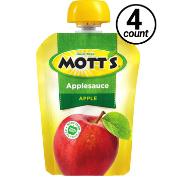 Mott's Applesauce, Natural, Snack & Go! 3.2 oz. Pouches (4 Count)