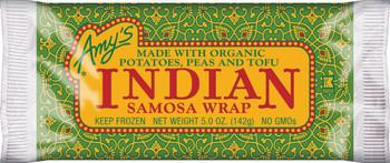 Amy's Kitchen, Indian Samosa Wrap, 5.0 oz. Entree (1 Count)