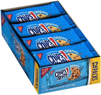 Chips Ahoy!, Real Chocolate Chip Cookies, 1.4 oz. (12 Count)