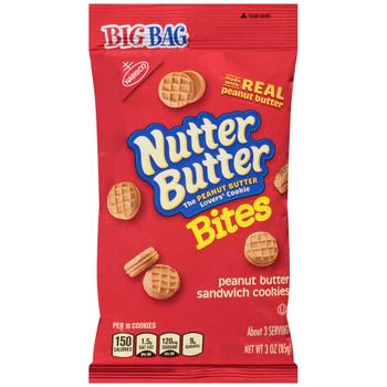 Nutter Butter, Peanut Butter Cookies, 3.0 oz. BIG Bag (1 Count)