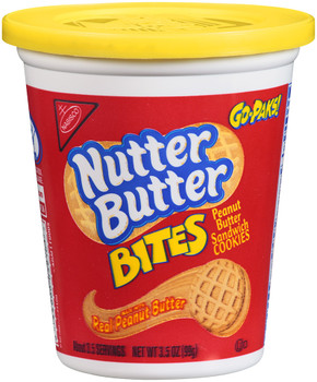 Nutter Butter, Peanut Butter Cookies, Bite Size, 3.5 oz. GO-PAKS (1 Count)