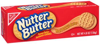 Nabisco Nutter Butter, Peanut Butter Sandwich Cookies, 4.80 oz. Convenience Pack (1 count)