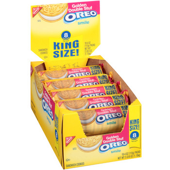 Oreo, 8-Golden Double Stuff Sandwich Cookies, KING SIZE, 4.0 oz. Pack (10 Count)