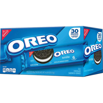 Nabisco Oreo, Chocolate Sandwich Cookies, 2.4 oz. package, 6 cookies (30 count)
