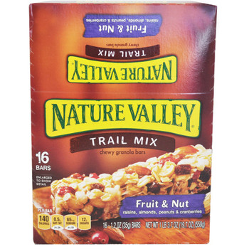 Nature Valley, Chewy Trail Mix Bar, Fruit & Nut, 1.2 oz. bar (16 Count)