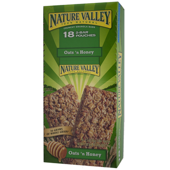 Nature Valley, Crunchy Granola Bars, Oats'n Honey, 1.5 oz. (18 Count)