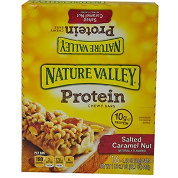 Nature Valley, Protein Bar, Salted Caramel Nut, 1.42 oz. (16 Count)