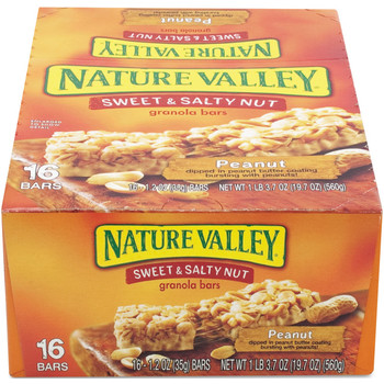 Nature Valley, Sweet & Salty Nut Bar, Peanut. 1.2 oz. (16 Count)