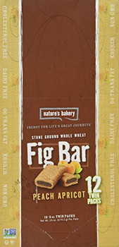 Nature's Bakery, Whole Wheat Fig Bar Peach Apricot, 2.0 oz. (12 Count)