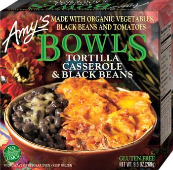 Amy's Kitchen, Tortilla Casserole & Black Beans Bowl, 9.5 oz. Entree (1 Count)