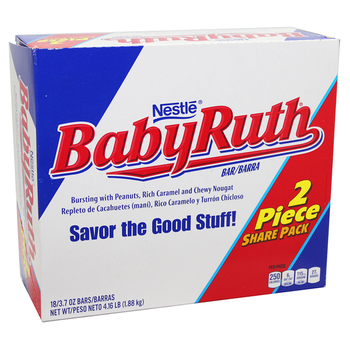 Nestle, Baby Ruth, Sharing Size, 3.7 oz. Bars (18 Count)