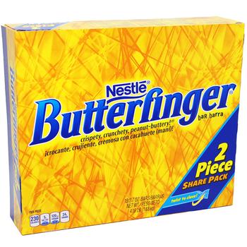 Nestle, Butterfinger, Sharing Size, 3.7 oz. Bars (18 Count)