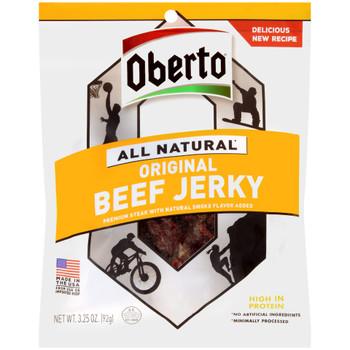 Oberto Beef Jerky, Original Natural Smoke Flavor, 3.25 oz. Bag (1 Count)