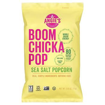 Angie's Popcorn, Boom Chicka Pop Sea Salt Popcorn, 0.6 oz. Bag (1 Count)