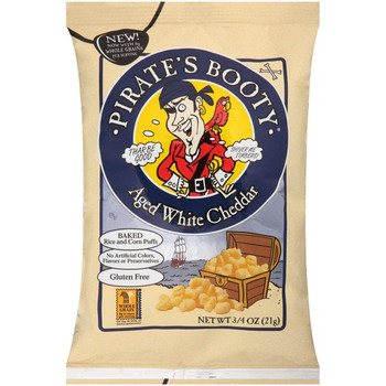 Pirate Brands, Pirate's Booty Aged White Cheddar, 0.75 oz. Bag (1 Count)