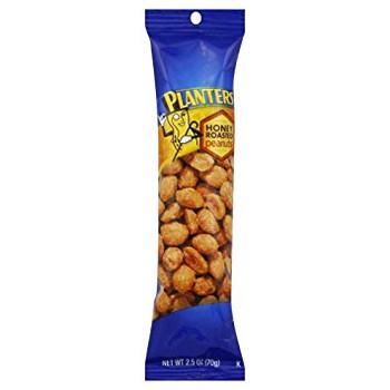 Planters, Honey Roasted Peanuts, 2.5 oz. Tube (1 Count)