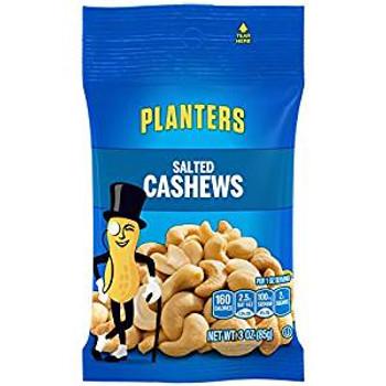 Planters, Salted Cashews, 3.0 oz. Bag (1 Count)