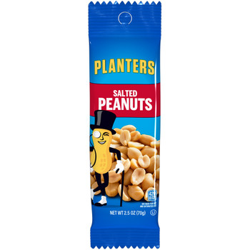 Planters, Salted Peanuts, 2.5 oz. Tube (1 Count)
