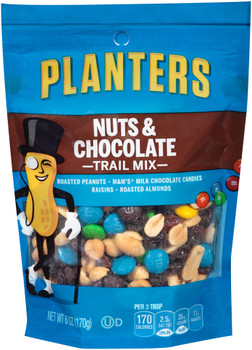 Planters, Trail Mix, Nut and Chocolate, 6.0 oz. Bag (1 Count)