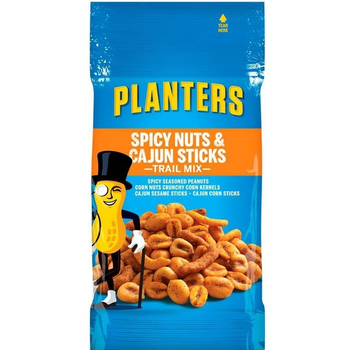 Planters, Trail Mix, Spicy Nuts & Cajun Mix 2.0 oz. Peg Bag (1 Count)