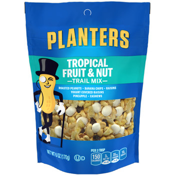 Planters, Trail Mix, Tropical Fruit & Nut, 6.0 oz. Bag ( 1 Count)