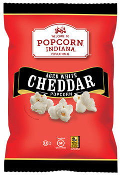 Popcorn Indiana, Aged White Cheddar Popcorn, 3.5 oz. Bag (1 Count)