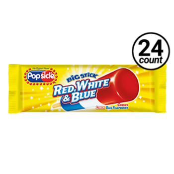 Popsicle, Big Stick Red White and Blue, 3.5 oz. (24 Count)