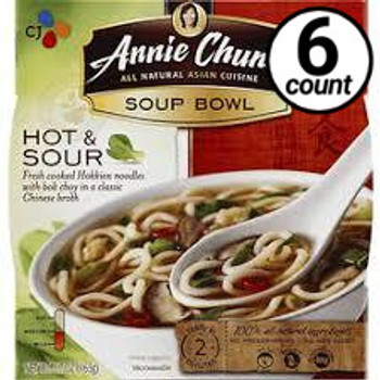 Annie Chun's Soup Bowl, Hot & Sour, 5.7 oz. (6 Count)