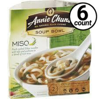 Annie Chun's Soup Bowl, Miso, 5.9 oz. (6 Count)