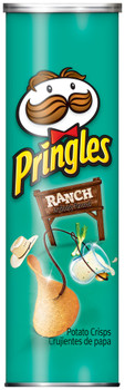 Pringles Potato Crisps, Ranch, 5.5 oz. Can (1 Count)