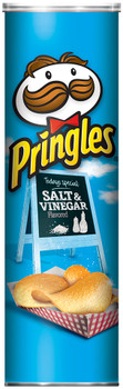 Pringles Potato Crisps, Salt & Vinegar, 5.5 oz. Can (1 Count)