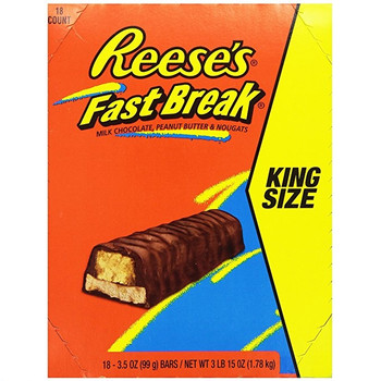 Reese's Fast Break, Sharing Size, 3.5 oz. Bars (18 Count)