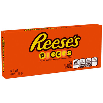 Reese's Pieces, Peanut Butter Candy in a Crunchy Shell, 4 oz. Theater Box (1 Count)