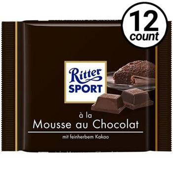 Ritter Sport, Milk Chocolate with Cocoa Mousse, 3.5 Oz (12 Count)