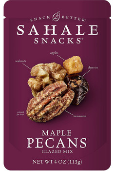 Sahale Snacks Premium Blend, Maple Pecans with Walnuts, Cherries + Cinnamon, 4 oz. Bag (1 Count)