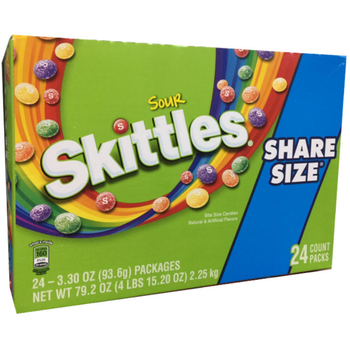 Skittles Sour, Sharing Size, 3.3 oz. Packs (24 Count)