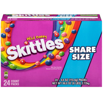 Skittles Wild Berry, Sharing Size 4.0 oz. Packs (24 Count)