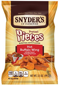Snyder's, Hot Buffalo Wing Pieces, 3.5 oz. Bag (1 Count)
