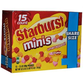 Starburst minis Original, Sharing Size, 3.5 oz. Pack (15 Count)