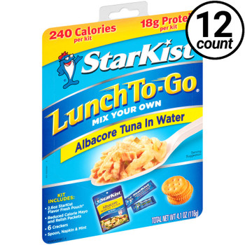 Starkist, Lunch To Go, Albacore Tuna in Water, 4.1 oz. Kit (12 Count)