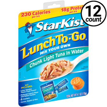 Starkist, Lunch To Go, Chunk Light Tuna in Water, 4.1 oz. Kit (12 Count)
