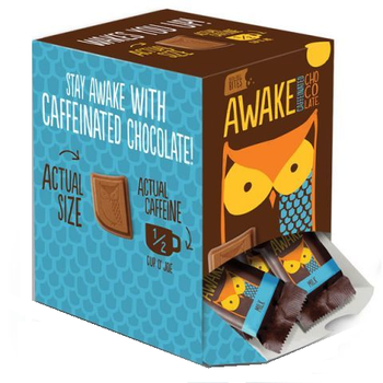 Awake Chocolate, Changemaker Caddy, Milk Chocolate, .53 oz. Singles (50 Count)