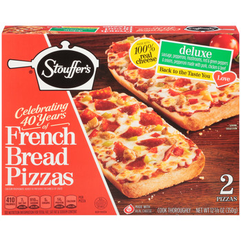 Stouffer's, Deluxe Pizza, 12.375 oz. Packaged Meal (1 Count)
