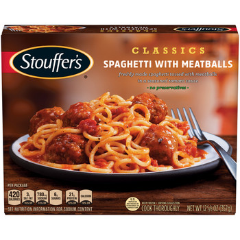 Stouffer's, Spaghetti with Meatballs, 12.625 oz. Packaged Meal (1 Count)