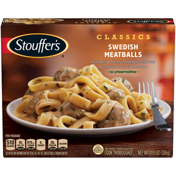 Stouffer's, Swedish Meatballs, 11.5 oz. Packaged Meal (1 Count)