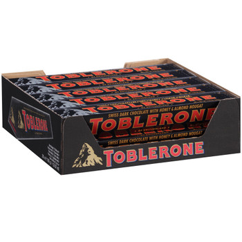Toblerone Swiss Dark Chocolate with Honey and Almond Nougat, 3.52 oz. (20 Count)