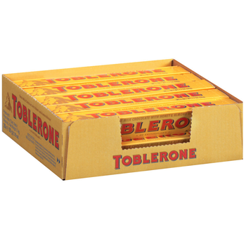 Toblerone Swiss Milk Chocolate with Honey and Almond Nougat, 1.76 oz. Bars (24 Count)