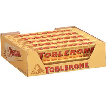 Toblerone Swiss Milk Chocolate with Honey and Almond Nougat, 3.52 oz. (20 Count)