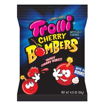 Trolli, Cherry Bombers, 4.25 oz. Peg Bag (1 Count)